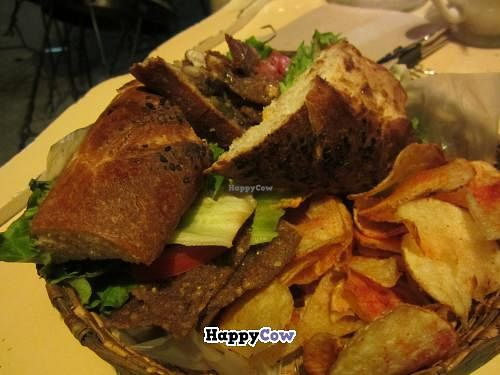 """Photo of Pan Comido Vegetariano - Tonala   by <a href=""""/members/profile/tsmith6"""">tsmith6</a> <br/>I think this was a vegan reuben? <br/> July 20, 2013  - <a href='/contact/abuse/image/27201/51672'>Report</a>"""
