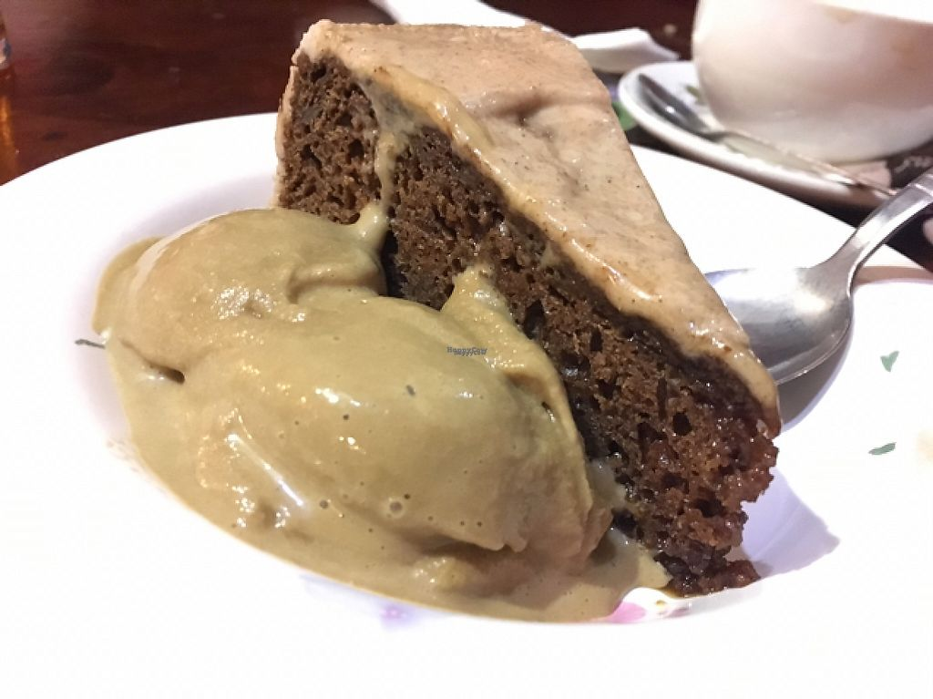 """Photo of The Globe  by <a href=""""/members/profile/astronemma"""">astronemma</a> <br/>cinnamon cake with toffee ice cream  <br/> February 19, 2017  - <a href='/contact/abuse/image/2721/228287'>Report</a>"""