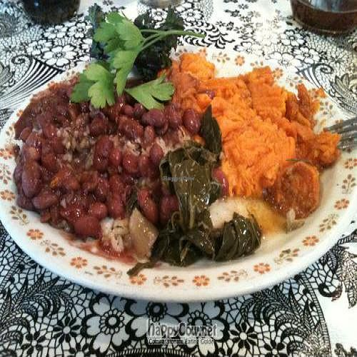 """Photo of Bless My Soul Cafe  by <a href=""""/members/profile/Ape%20Wonder"""">Ape Wonder</a> <br/>Veggie Plate (1) <br/> September 10, 2011  - <a href='/contact/abuse/image/27292/10554'>Report</a>"""