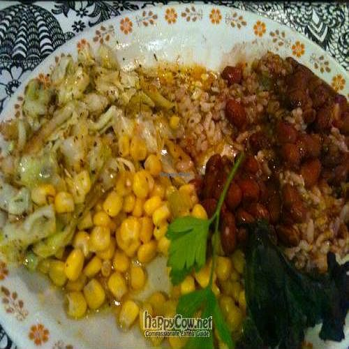 """Photo of Bless My Soul Cafe  by <a href=""""/members/profile/Ape%20Wonder"""">Ape Wonder</a> <br/>Veggie Plate (2) <br/> September 10, 2011  - <a href='/contact/abuse/image/27292/10555'>Report</a>"""
