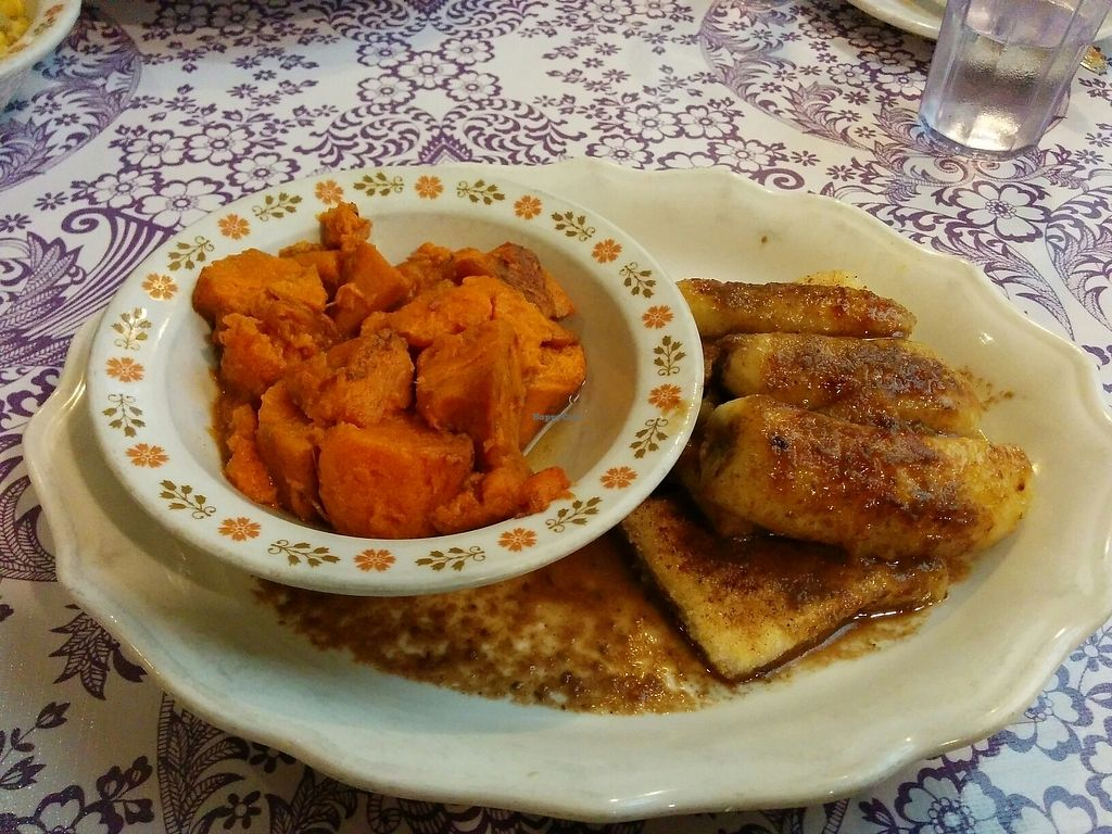 """Photo of Bless My Soul Cafe  by <a href=""""/members/profile/Next2last"""">Next2last</a> <br/>Tofu Jerky with fried bananas <br/> July 25, 2017  - <a href='/contact/abuse/image/27292/284524'>Report</a>"""