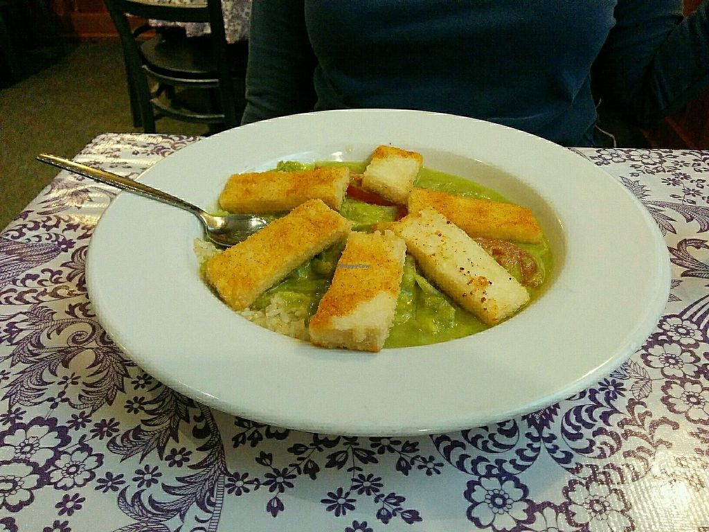 """Photo of Bless My Soul Cafe  by <a href=""""/members/profile/Next2last"""">Next2last</a> <br/>Creole Tofu <br/> July 25, 2017  - <a href='/contact/abuse/image/27292/284525'>Report</a>"""