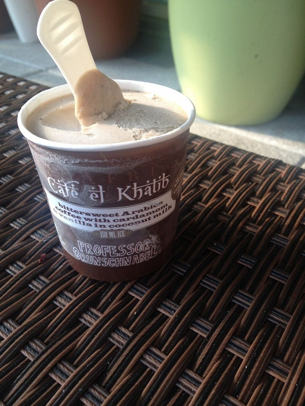 """Photo of Veganz - Schivelbeiner Strasse  by <a href=""""/members/profile/o0Carolyn0o"""">o0Carolyn0o</a> <br/>Delicious coffee nice cream with cardamon that they have in the frozen section! <br/> October 5, 2016  - <a href='/contact/abuse/image/27300/179853'>Report</a>"""
