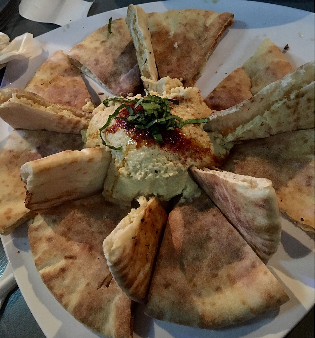 "Photo of Mellow Mushroom - 21 St Ave  by <a href=""/members/profile/Thepennsyltuckyvegan"">Thepennsyltuckyvegan</a> <br/>Hummus and pita starter <br/> March 16, 2018  - <a href='/contact/abuse/image/27302/371475'>Report</a>"