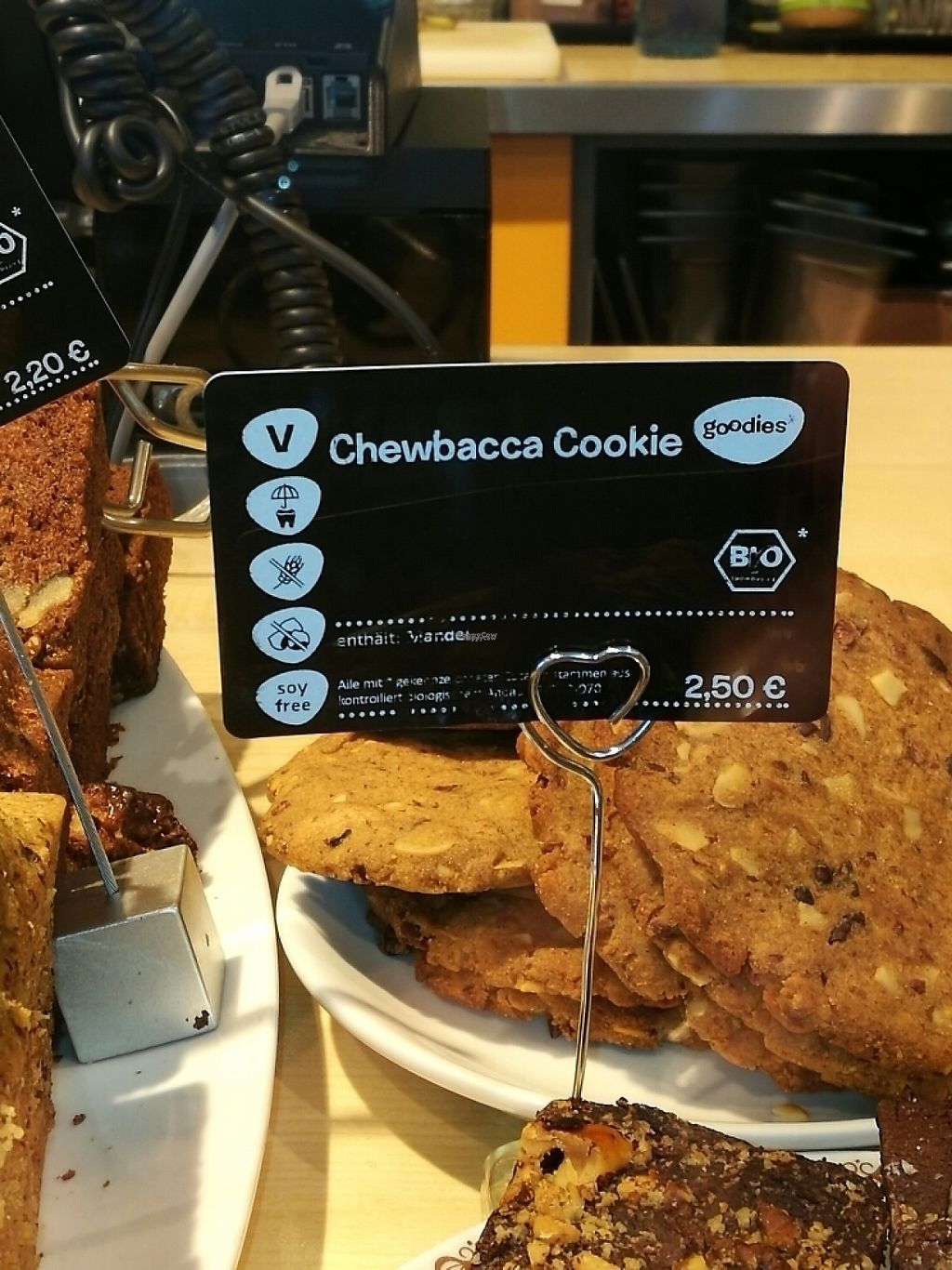 """Photo of Goodies Cafe - Veganz Schivelbeiner Str  by <a href=""""/members/profile/Waldyvgun"""">Waldyvgun</a> <br/>chewbacca! <br/> March 9, 2017  - <a href='/contact/abuse/image/27316/234638'>Report</a>"""
