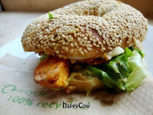 """Photo of Goodies Cafe - Veganz Schivelbeiner Str  by <a href=""""/members/profile/SueClesh"""">SueClesh</a> <br/>sweet potato bagel <br/> May 6, 2013  - <a href='/contact/abuse/image/27316/47864'>Report</a>"""