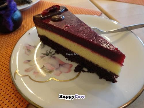 """Photo of Goodies Cafe - Veganz Schivelbeiner Str  by <a href=""""/members/profile/JonJon"""">JonJon</a> <br/>Cherry cheesecake <br/> November 7, 2013  - <a href='/contact/abuse/image/27316/58087'>Report</a>"""