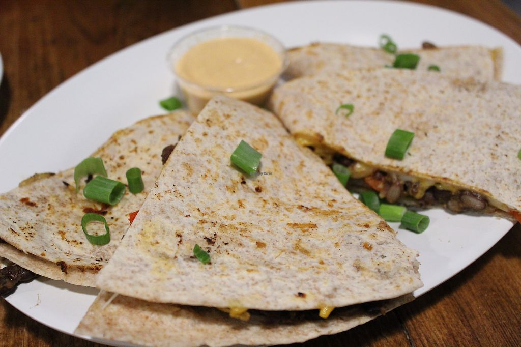 """Photo of The Hogtown Vegan  by <a href=""""/members/profile/MSVeganGal"""">MSVeganGal</a> <br/>Black bean quesadilla <br/> March 7, 2018  - <a href='/contact/abuse/image/27318/367846'>Report</a>"""