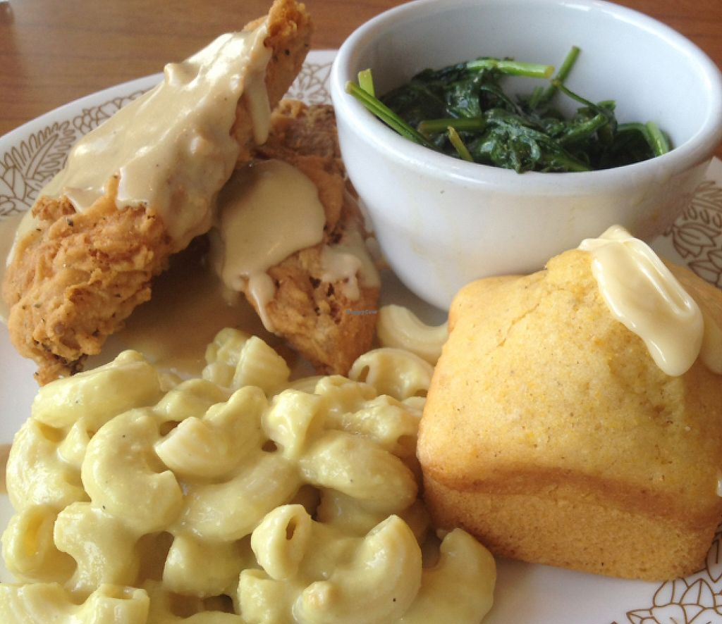 """Photo of Cornbread Cafe  by <a href=""""/members/profile/mep"""">mep</a> <br/>Devilishly good Fried Chicken <br/> June 17, 2016  - <a href='/contact/abuse/image/27352/218870'>Report</a>"""