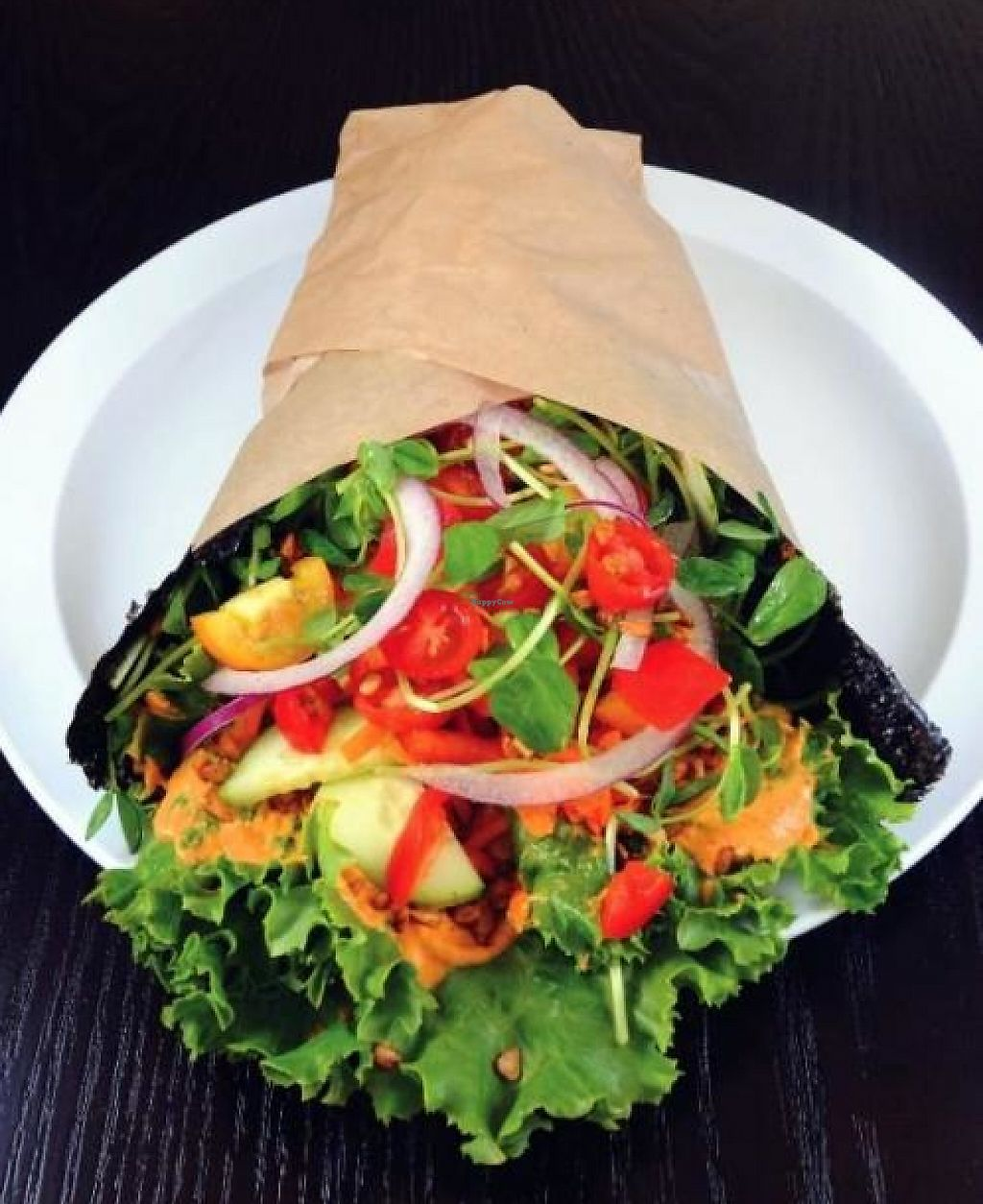 """Photo of CLOSED: Baagan  by <a href=""""/members/profile/AngeliqueMiller"""">AngeliqueMiller</a> <br/>Nori (seaweed) Wrap with fresh veggies and house-made spreads <br/> February 7, 2013  - <a href='/contact/abuse/image/27372/194239'>Report</a>"""