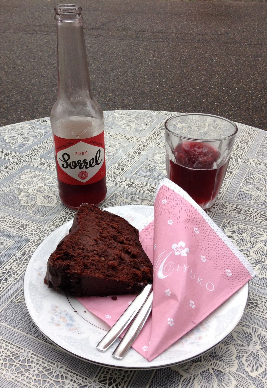 """Photo of Miyuko les Gourmandise  by <a href=""""/members/profile/Chakotay"""">Chakotay</a> <br/>Tasty cake and a original, alternative beverage.  <br/> October 14, 2015  - <a href='/contact/abuse/image/27378/121310'>Report</a>"""