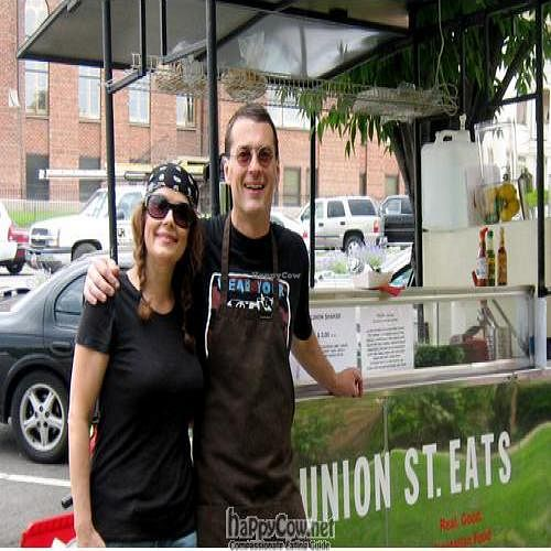 """Photo of CLOSED: Union Street Eats - Food Truck  by <a href=""""/members/profile/UnionStreet"""">UnionStreet</a> <br/>Chef Larayn and James  <br/> August 31, 2011  - <a href='/contact/abuse/image/27422/10325'>Report</a>"""