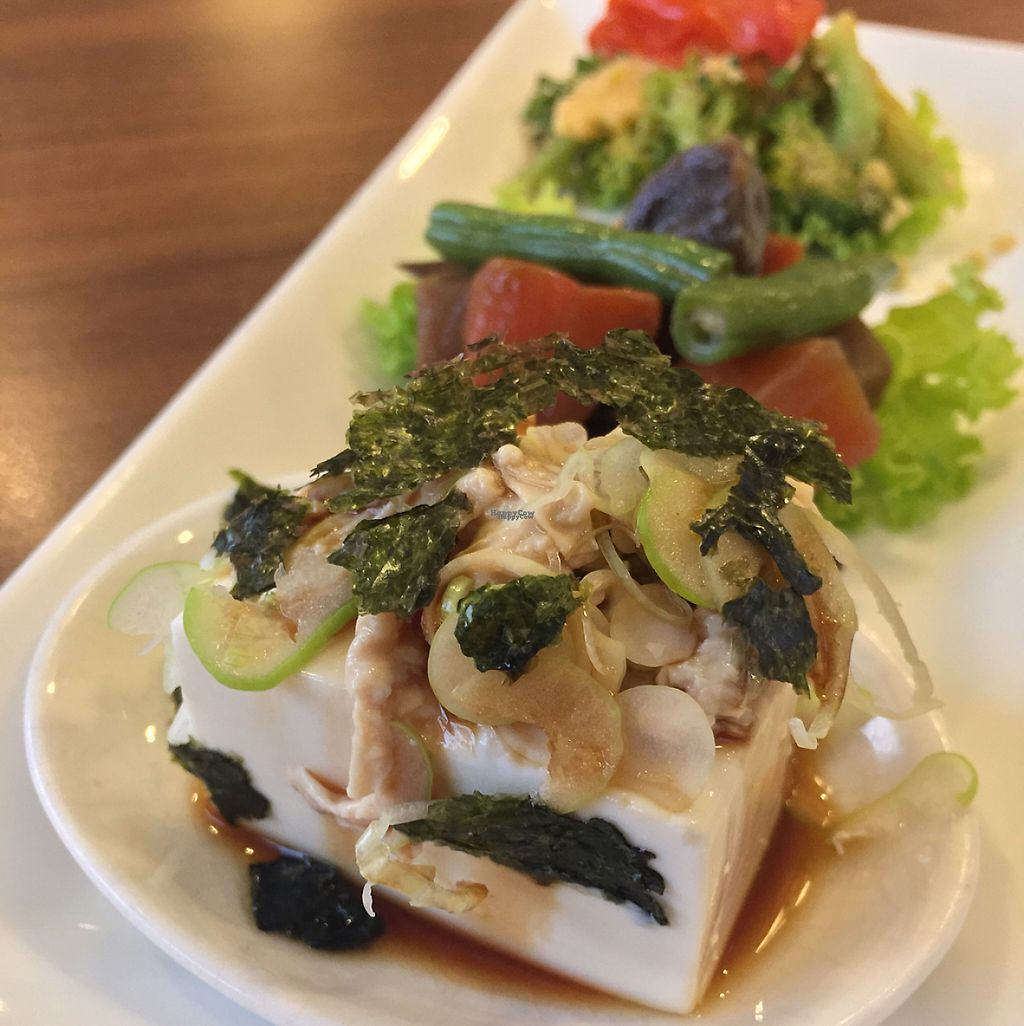"""Photo of Sustaina  by <a href=""""/members/profile/MyVeganJoy"""">MyVeganJoy</a> <br/>organic tofu and veggies appetizer  <br/> December 24, 2016  - <a href='/contact/abuse/image/27429/204457'>Report</a>"""