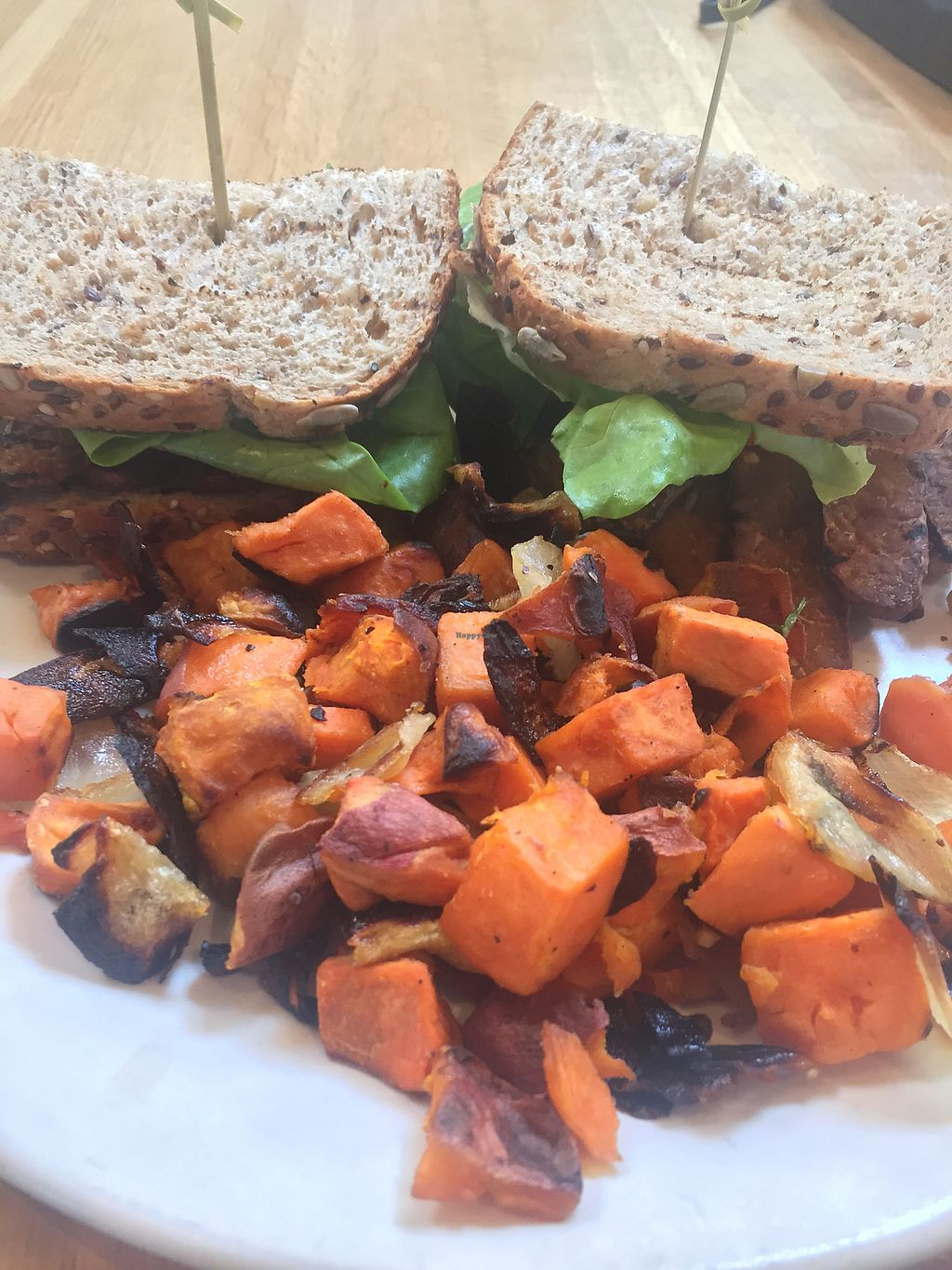 "Photo of True Food Kitchen  by <a href=""/members/profile/Renae"">Renae</a> <br/>TLT (tempeh lettuce tomato) sandwich & sweet potatoes yum! <br/> September 5, 2017  - <a href='/contact/abuse/image/27444/301050'>Report</a>"