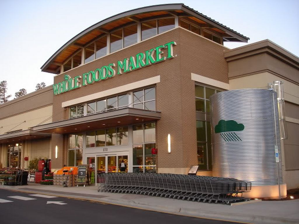 """Photo of Whole Foods Market - North Raleigh  by <a href=""""/members/profile/veganlove777"""">veganlove777</a> <br/>Front/ Outside of North Raleigh Whole Foods <br/> November 29, 2015  - <a href='/contact/abuse/image/27476/126599'>Report</a>"""
