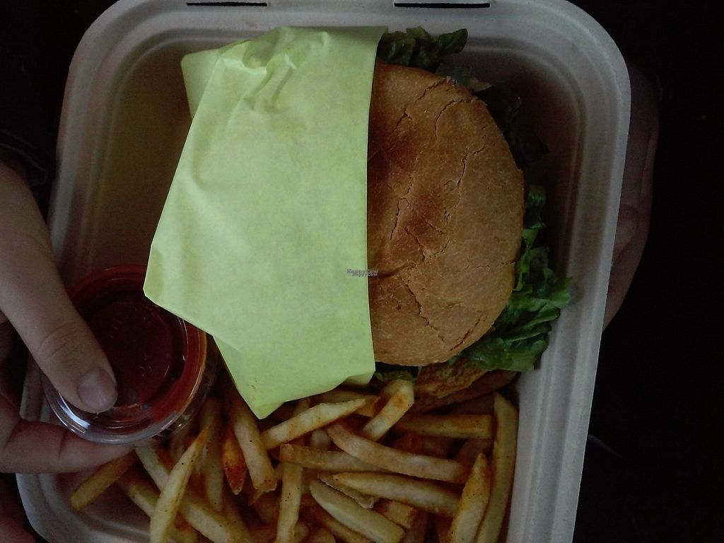 """Photo of Loving Hut  by <a href=""""/members/profile/anastronomy"""">anastronomy</a> <br/>Spicy tender burger  <br/> January 15, 2017  - <a href='/contact/abuse/image/27481/212286'>Report</a>"""