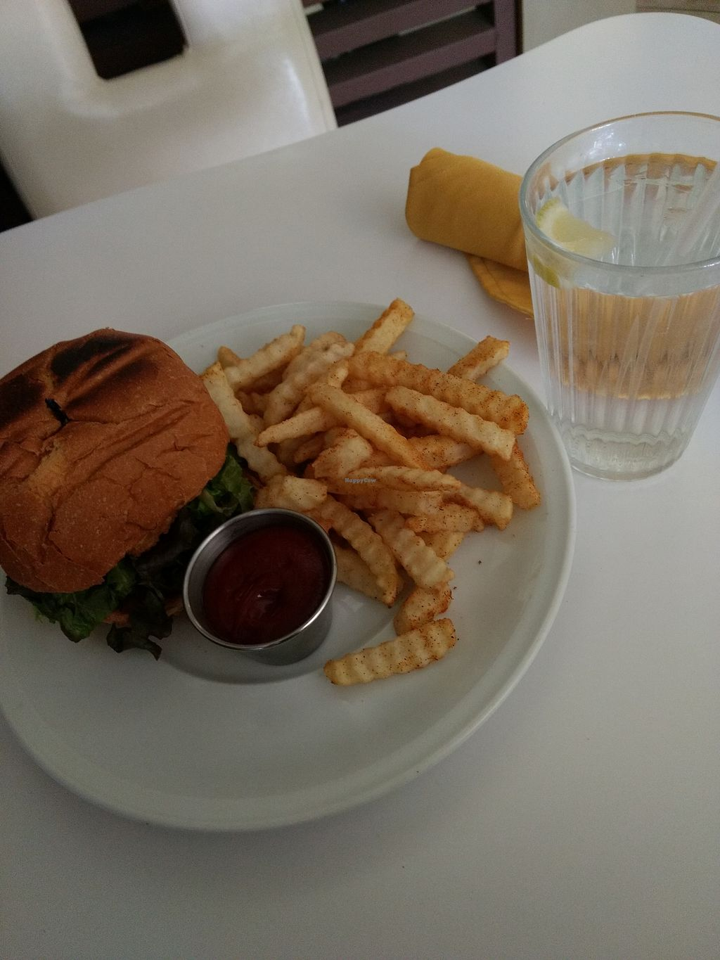 """Photo of Loving Hut  by <a href=""""/members/profile/anastronomy"""">anastronomy</a> <br/>Vegan burger <br/> December 21, 2017  - <a href='/contact/abuse/image/27481/337787'>Report</a>"""