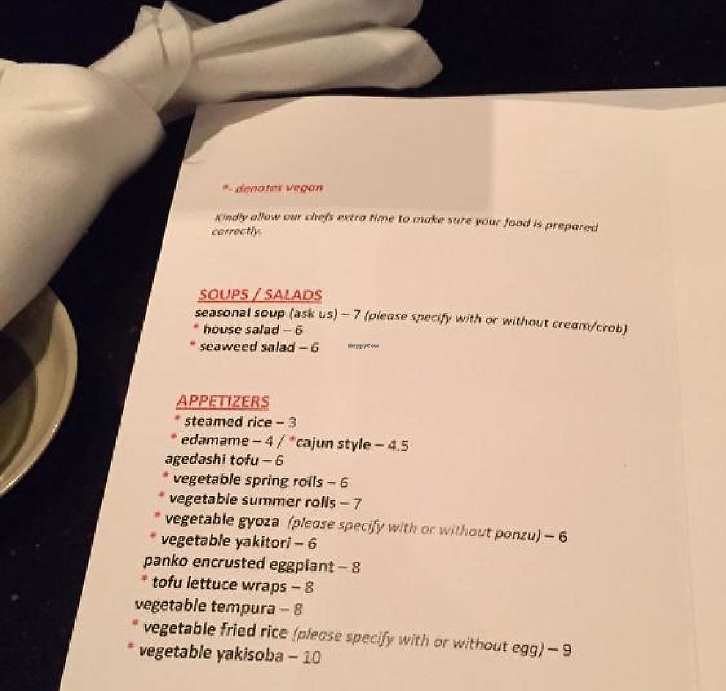 Photo of Zen Sushi  by drees2014 <br/>menu <br/> December 1, 2014  - <a href='/contact/abuse/image/27503/227529'>Report</a>