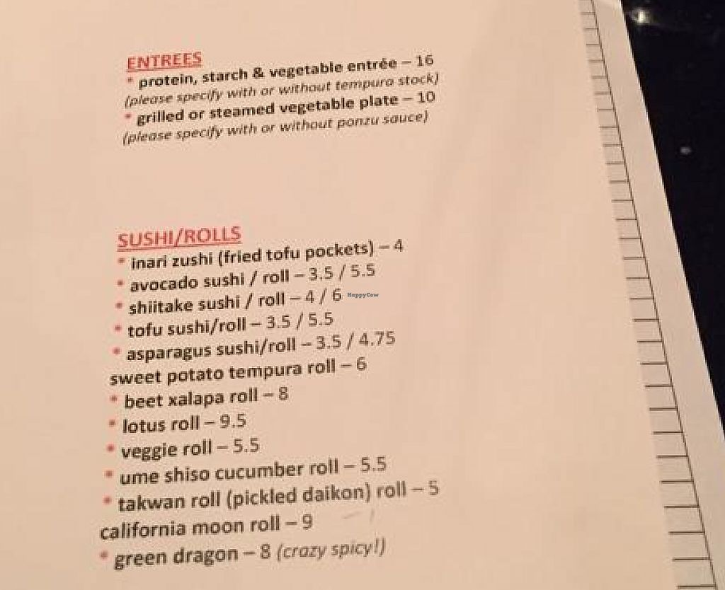 Photo of Zen Sushi  by drees2014 <br/>menu <br/> December 1, 2014  - <a href='/contact/abuse/image/27503/227530'>Report</a>