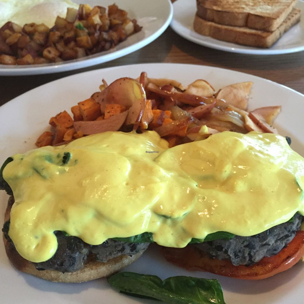 """Photo of Prasino  by <a href=""""/members/profile/happycowgirl"""">happycowgirl</a> <br/>vegan eggs Benedict  <br/> September 21, 2015  - <a href='/contact/abuse/image/27527/118648'>Report</a>"""