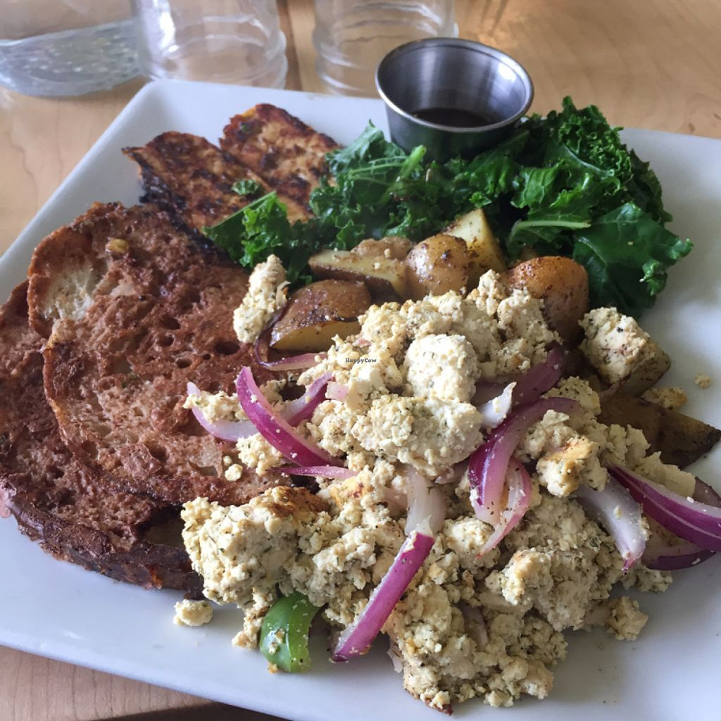 """Photo of CLOSED: Bartertown Diner  by <a href=""""/members/profile/Swansonbuns"""">Swansonbuns</a> <br/>large breakfast plate with French toast <br/> July 9, 2016  - <a href='/contact/abuse/image/27592/158785'>Report</a>"""