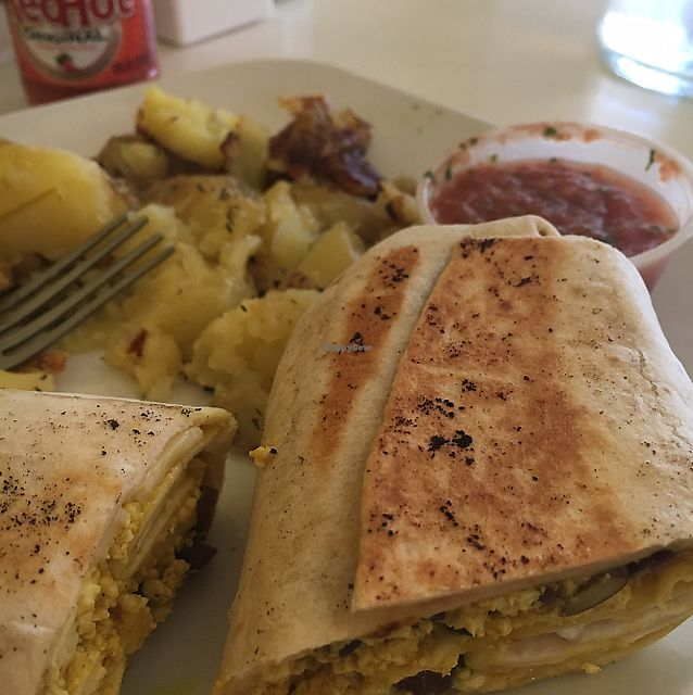 """Photo of Butter Cafe  by <a href=""""/members/profile/Beckiromans"""">Beckiromans</a> <br/>vegan burrito  <br/> June 19, 2017  - <a href='/contact/abuse/image/27603/271050'>Report</a>"""