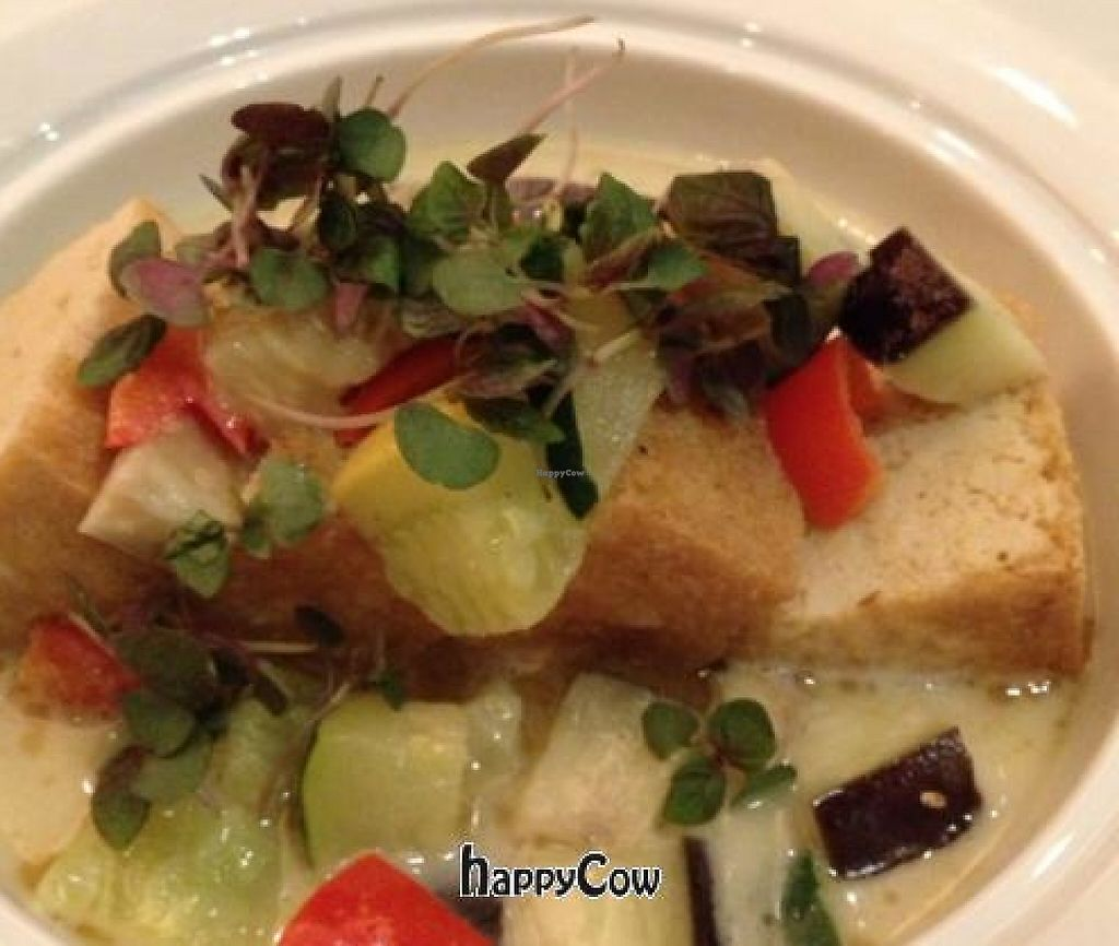"""Photo of Pyramid Restaurant and Bar  by <a href=""""/members/profile/DougKalish"""">DougKalish</a> <br/>grilled tofu and veggies in a coconut curry <br/> June 17, 2013  - <a href='/contact/abuse/image/27637/227487'>Report</a>"""