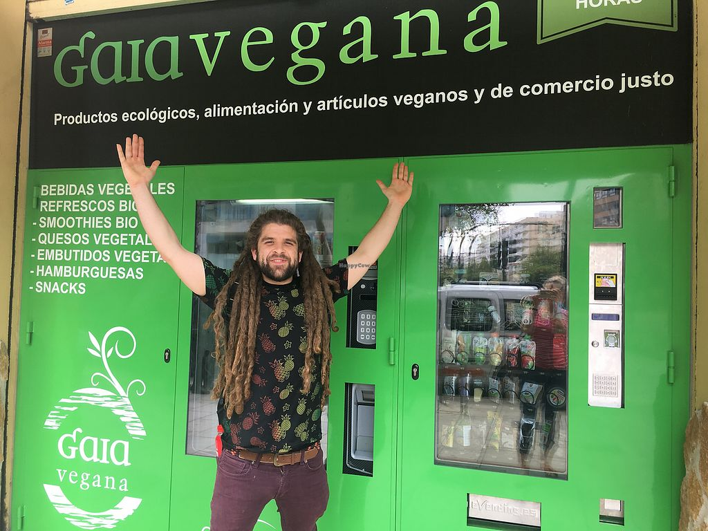 """Photo of Gaia Vegana  by <a href=""""/members/profile/FlorenceGS"""">FlorenceGS</a> <br/>Vegan vending machine <br/> April 15, 2018  - <a href='/contact/abuse/image/27676/386357'>Report</a>"""