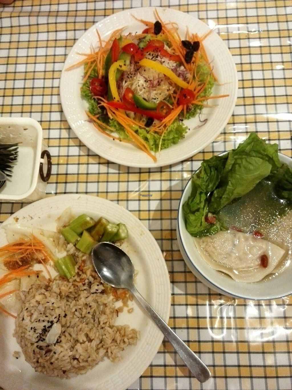 """Photo of The Leaf Healthy House  by <a href=""""/members/profile/shurup"""">shurup</a> <br/>Salad and dumpling set <br/> March 9, 2017  - <a href='/contact/abuse/image/27692/234538'>Report</a>"""