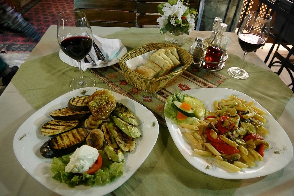 "Photo of Sadrvan  by <a href=""/members/profile/CaseyHapponen"">CaseyHapponen</a> <br/>Grilled veg plate and veg pasta <br/> October 29, 2017  - <a href='/contact/abuse/image/27699/319826'>Report</a>"