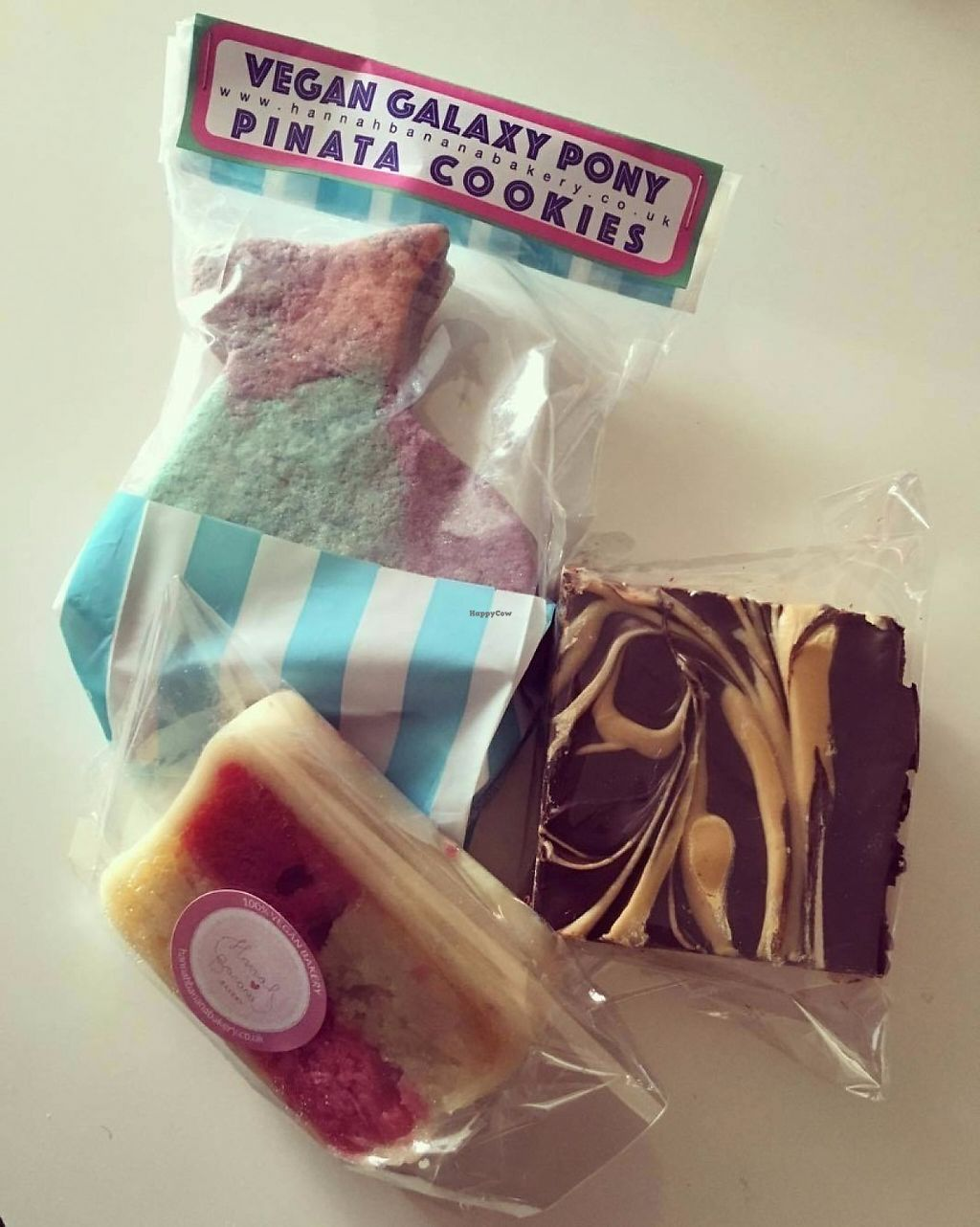 """Photo of Hannah Banana Bakery  by <a href=""""/members/profile/GeorginaAlyssa"""">GeorginaAlyssa</a> <br/>Pinata cookie, battenberg and peanut butter, chocolate crispie square bar! <br/> May 29, 2017  - <a href='/contact/abuse/image/27701/263800'>Report</a>"""