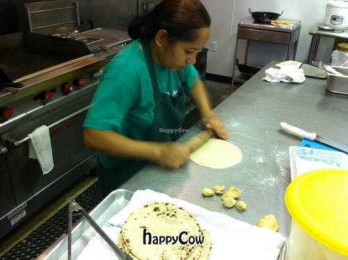 """Photo of Rani's World Foods Kitchen  by <a href=""""/members/profile/SuneelChander"""">SuneelChander</a> <br/>Making Chapati at Rani Foods <br/> December 14, 2012  - <a href='/contact/abuse/image/27704/41639'>Report</a>"""
