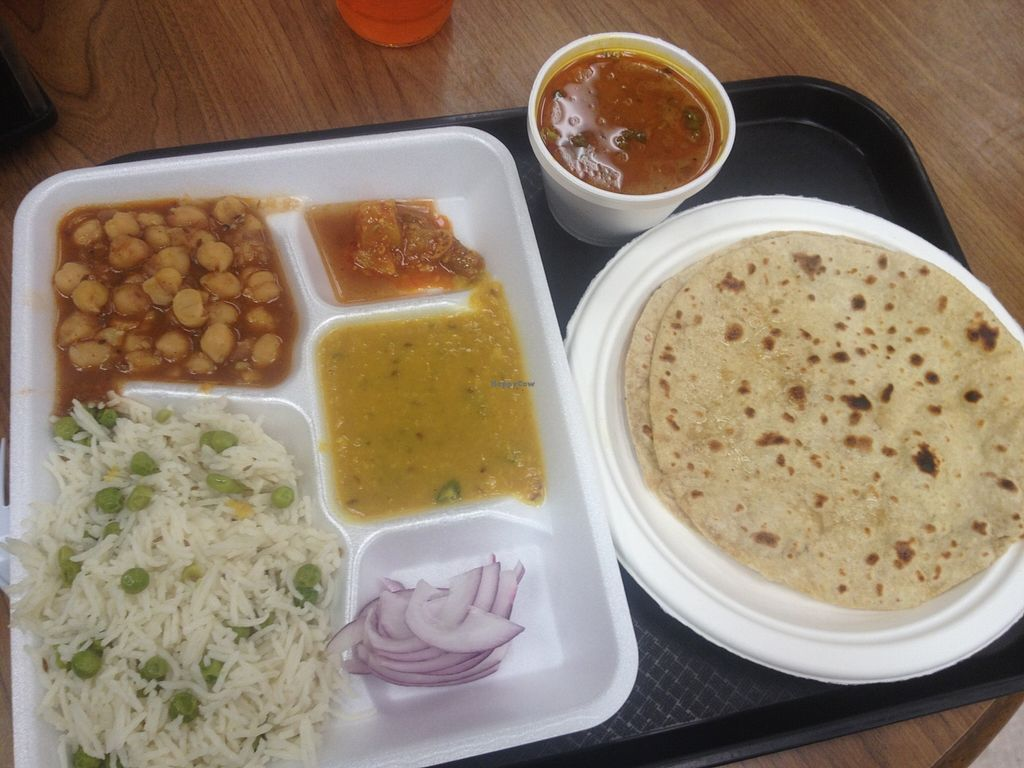 "Photo of Rani's World Foods  by <a href=""/members/profile/vegan_ryan"" class=""title__title"">vegan_ryan</a> <br/>Lunch combo plate <br/> December 13, 2015  - <a href='/contact/abuse/image/27706/128264'>Report</a>"