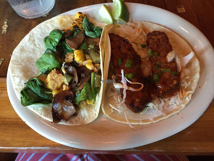 """Photo of TacoLu  by <a href=""""/members/profile/Shanaynay85"""">Shanaynay85</a> <br/>veggie taco and Tempeh taco <br/> October 1, 2016  - <a href='/contact/abuse/image/27717/178900'>Report</a>"""