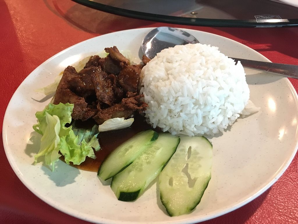 """Photo of Tin Sum Vegetarian Restaurant  by <a href=""""/members/profile/JeppoMAX"""">JeppoMAX</a> <br/>Crispy pork rice <br/> March 16, 2018  - <a href='/contact/abuse/image/27719/371287'>Report</a>"""