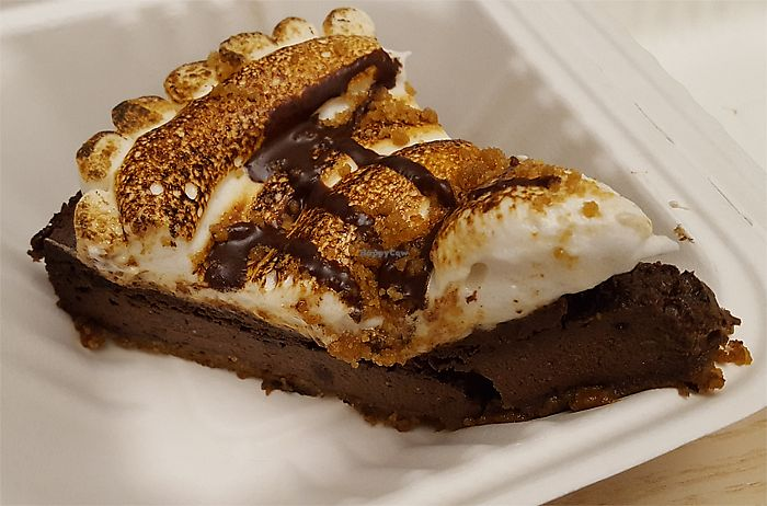 """Photo of Veggie Galaxy  by <a href=""""/members/profile/Seiashun"""">Seiashun</a> <br/>Vegan smores chocolate pie <br/> October 14, 2017  - <a href='/contact/abuse/image/27722/315118'>Report</a>"""