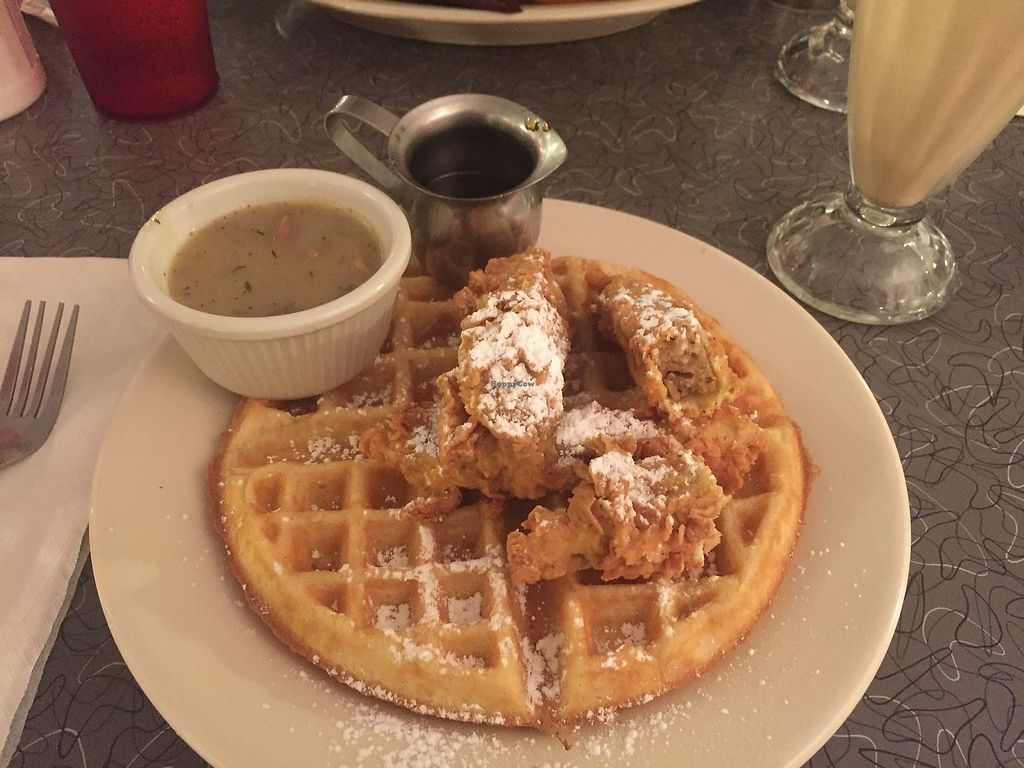 """Photo of Veggie Galaxy  by <a href=""""/members/profile/kmanchester306"""">kmanchester306</a> <br/>Chicken & Waffles  <br/> November 12, 2017  - <a href='/contact/abuse/image/27722/324811'>Report</a>"""