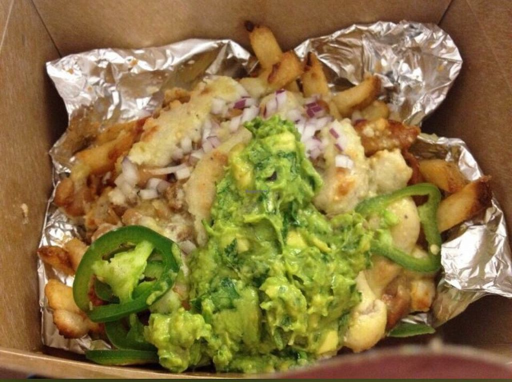"""Photo of Mohawk Bend  by <a href=""""/members/profile/AlexandraPhillips"""">AlexandraPhillips</a> <br/>vegan chili cheese fries to go!  <br/> October 10, 2015  - <a href='/contact/abuse/image/27727/120931'>Report</a>"""