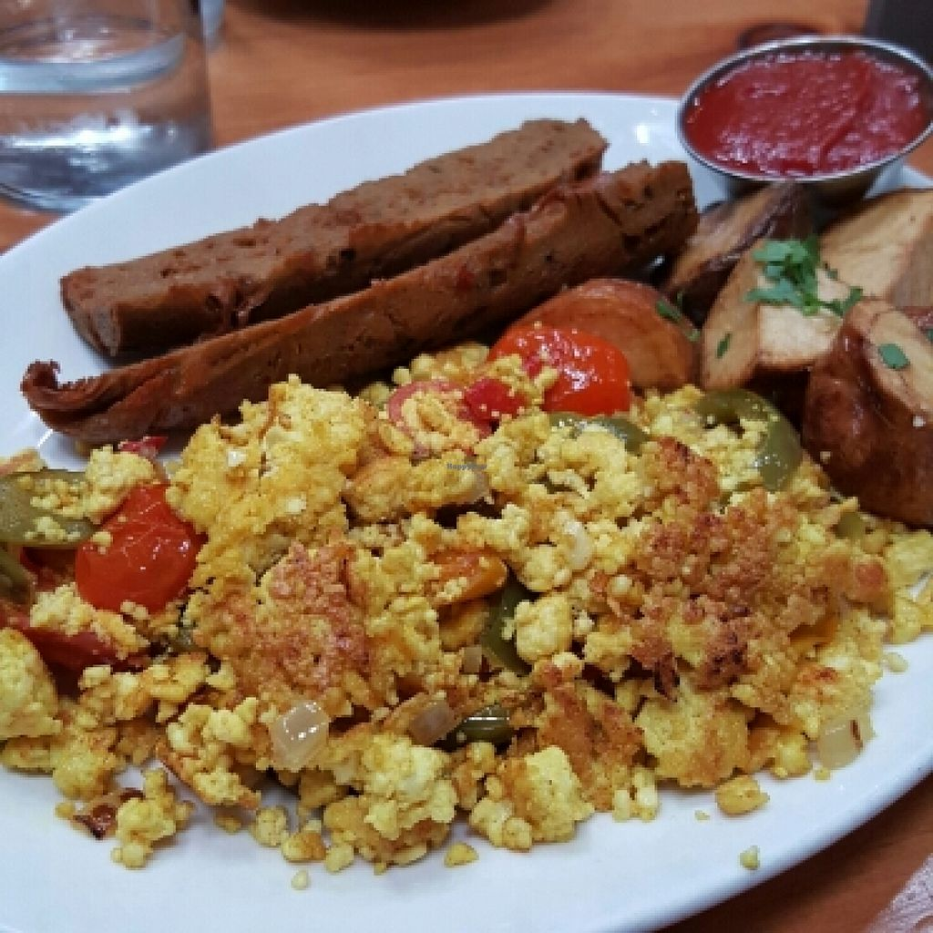 """Photo of Mohawk Bend  by <a href=""""/members/profile/xmrfigx"""">xmrfigx</a> <br/>Tofu Scramble w/ homemade vegan sausage <br/> May 15, 2016  - <a href='/contact/abuse/image/27727/149024'>Report</a>"""