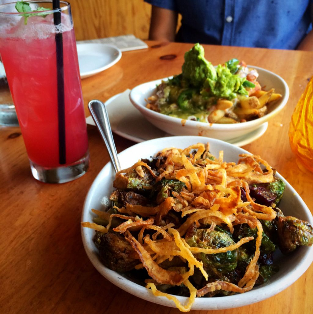 """Photo of Mohawk Bend  by <a href=""""/members/profile/thePLURvegan"""">thePLURvegan</a> <br/>loved the crispy Brussel sprouts with pear, beets and crispy onion <br/> August 2, 2016  - <a href='/contact/abuse/image/27727/164430'>Report</a>"""
