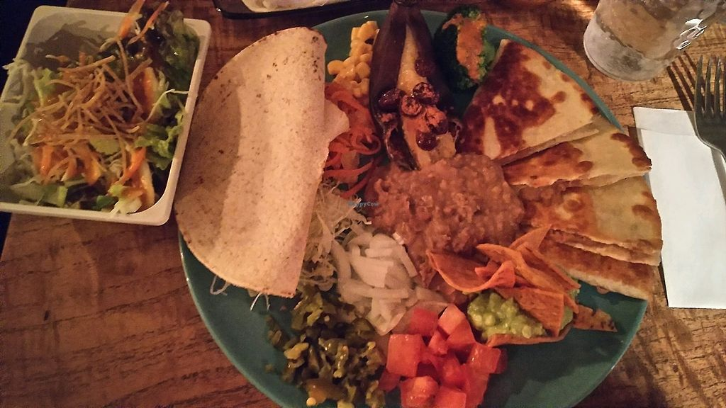 "Photo of El Pancho  by <a href=""/members/profile/Anashire"">Anashire</a> <br/>Healthy vegan combo plate at dinner <br/> January 20, 2018  - <a href='/contact/abuse/image/27766/348692'>Report</a>"