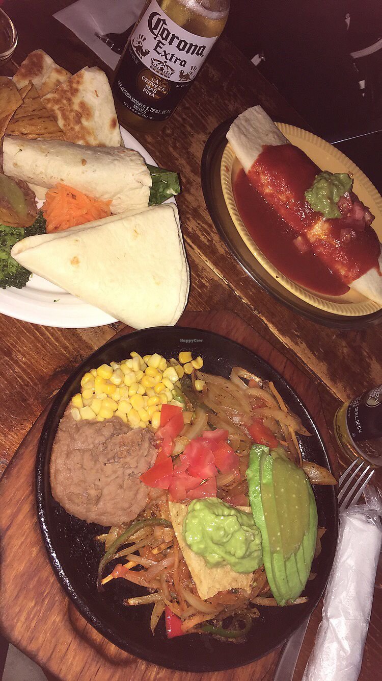 "Photo of El Pancho  by <a href=""/members/profile/BecBarke"">BecBarke</a> <br/>Vegetarian Fajitas Plate - best meal of my life  <br/> April 21, 2018  - <a href='/contact/abuse/image/27766/388838'>Report</a>"
