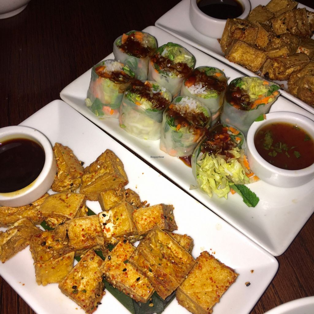 """Photo of Chow  by <a href=""""/members/profile/SeitanSeitanSeitan"""">SeitanSeitanSeitan</a> <br/>Seven Spice Tofu and Ricepaper rolls <br/> March 29, 2016  - <a href='/contact/abuse/image/27772/141802'>Report</a>"""