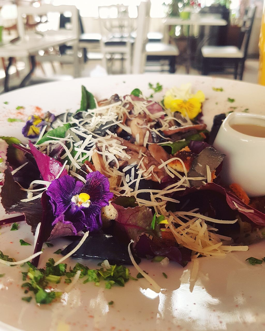 """Photo of V.O.P. - Very Organic People  by <a href=""""/members/profile/happysparrow"""">happysparrow</a> <br/>Vegetarian ceasar salad <br/> September 30, 2017  - <a href='/contact/abuse/image/27803/309967'>Report</a>"""