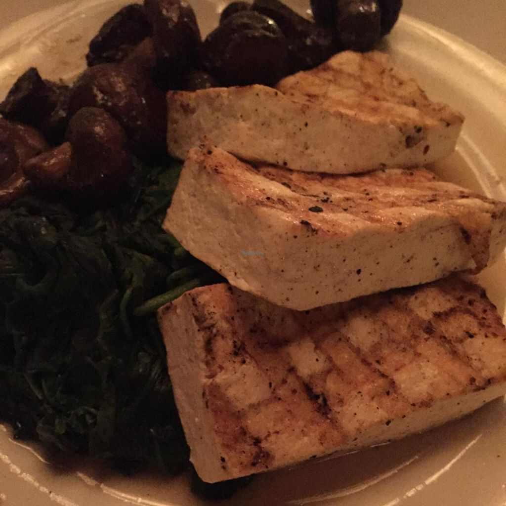"""Photo of Seasons 52  by <a href=""""/members/profile/Ellenkm"""">Ellenkm</a> <br/>tofu with spinach and mushrooms <br/> April 11, 2015  - <a href='/contact/abuse/image/27864/98678'>Report</a>"""