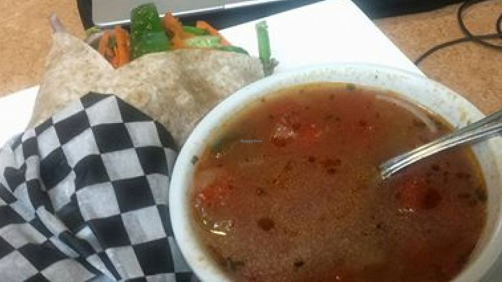 "Photo of Green Bean Cafe  by <a href=""/members/profile/Armando"">Armando</a> <br/>Vegetable Soup and Vegetable Hummus Wrap. Both were well prepared and tasty <br/> April 8, 2016  - <a href='/contact/abuse/image/27865/204217'>Report</a>"