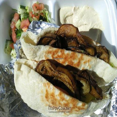 """Photo of Aladdin Pita  by <a href=""""/members/profile/happycowgirl"""">happycowgirl</a> <br/>Eggplant Sandwich <br/> September 21, 2011  - <a href='/contact/abuse/image/27879/10748'>Report</a>"""