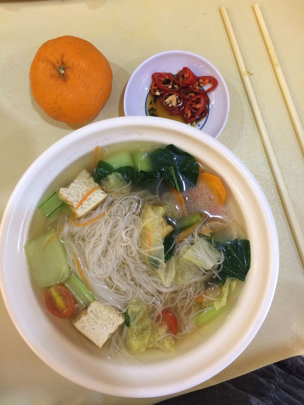 "Photo of Mei Lin Vegetarian  by <a href=""/members/profile/LaurenceMontreuil"">LaurenceMontreuil</a> <br/>tofu and seaweed soup <br/> March 6, 2018  - <a href='/contact/abuse/image/27898/367259'>Report</a>"