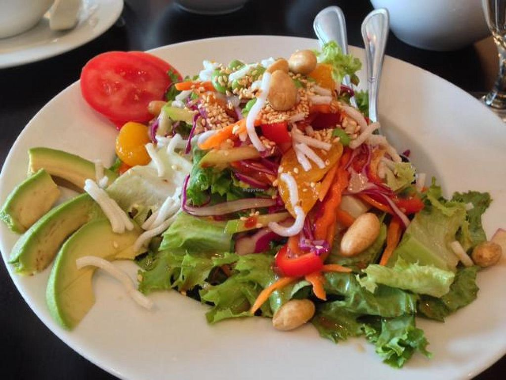 "Photo of Roots  by <a href=""/members/profile/happycowgirl"">happycowgirl</a> <br/>Thai Salad (vegan) <br/> May 26, 2014  - <a href='/contact/abuse/image/27905/70810'>Report</a>"