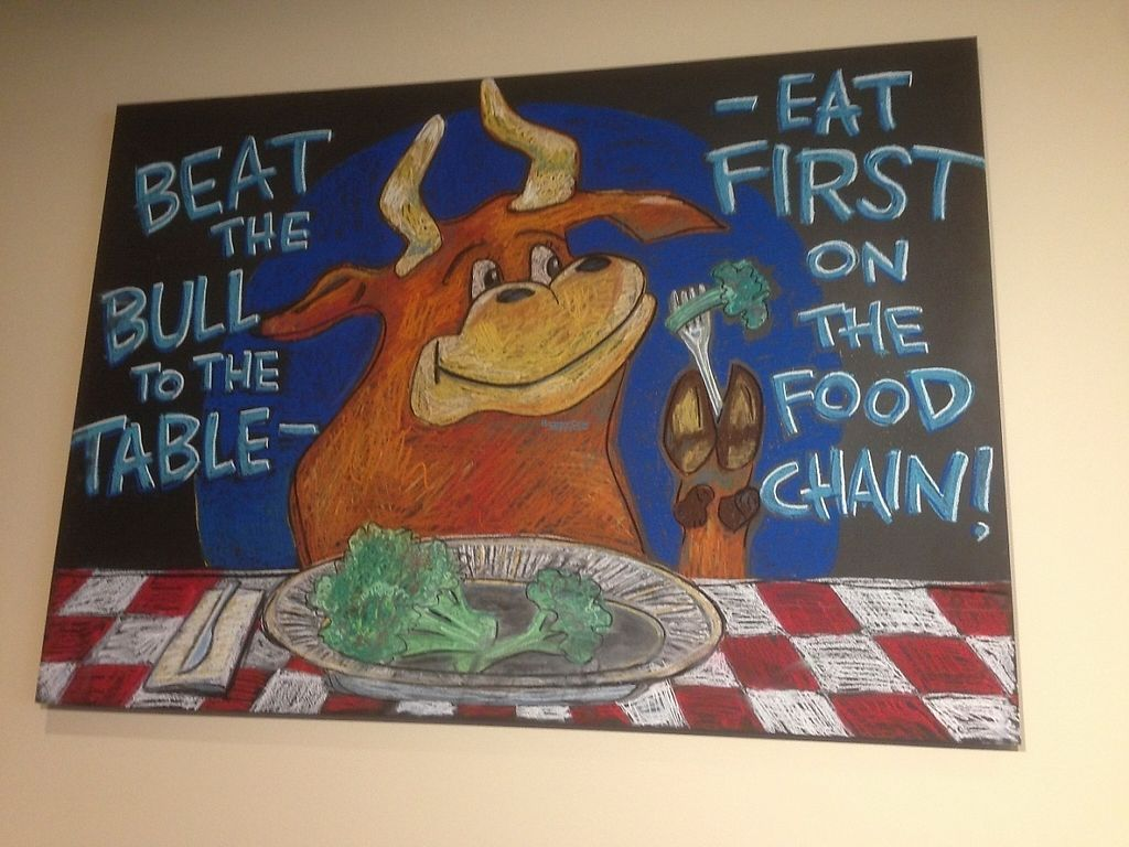 """Photo of Native Foods - Lakeview  by <a href=""""/members/profile/KWdaddio"""">KWdaddio</a> <br/>Fun Vegan Sign <br/> December 30, 2016  - <a href='/contact/abuse/image/27914/206081'>Report</a>"""